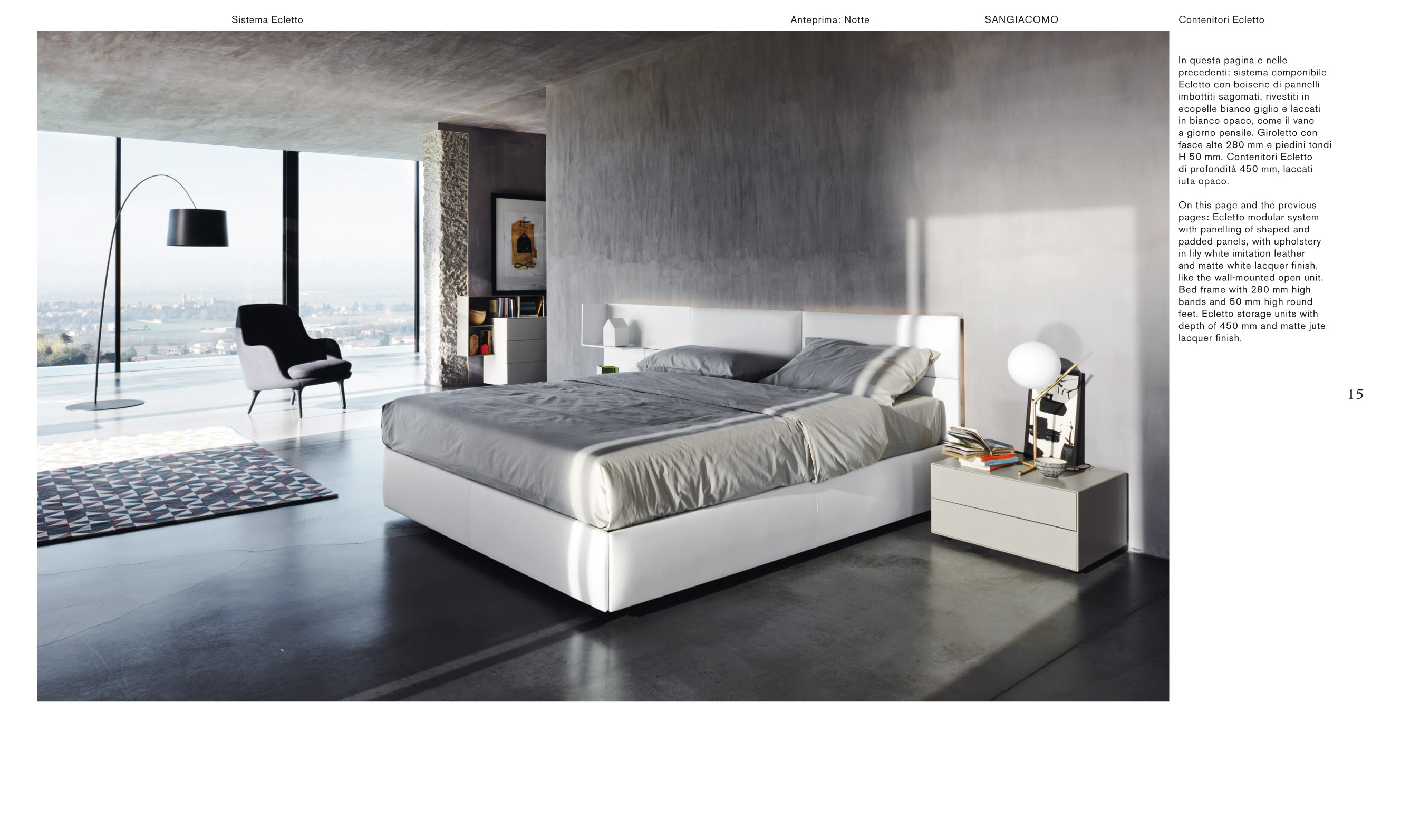 Sangiacomo Ecletto System With Padded Headboard